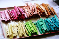 Aunt Peaches: Two-Tone Clothespins