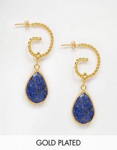 Ottoman Hands Lapis Swirl Earrings
