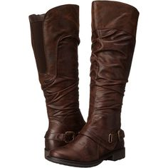 Bare Traps Sheridan Women's Shoes, Brown ($40) ❤ liked on Polyvore featuring shoes, boots, ankle booties, brown, high platform boots, baretraps boots, brown boots, platform boots and brown platform boots