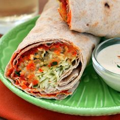Spicy Lentil Wraps with Tahini Sauce Recipe