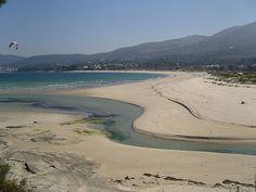 Playa de Aguieira en Porto do Son, La Coruña.