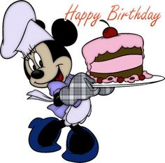 Happy Birthday - Minnie Birthday Cake