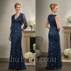 Mother Of Bride Dresses Fashion Stylish Formal Gowns For Wedding 3/4 Sleeve 2017 #Dress