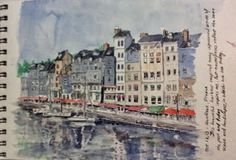 Plein Aire Painting on site at Honfleur, France by Bev Morgan