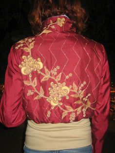 one of a kind Bomberjacket, made from recycled  indian sarees by  www.Miriam-Strehlau.com