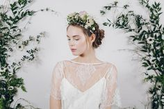 fresh antique pink flower crown with blush pearl and crystal jewellery headband