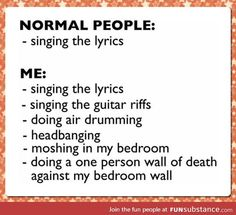 Regular People vs. Me singing