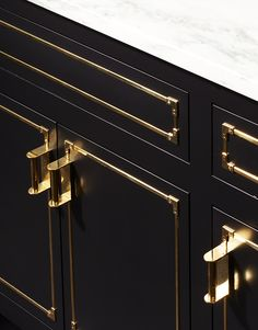 Exclusive, handcrafted custom cabinetry designs, in styles from modern to traditional. Waterworks Bathroom, Bathroom Faucets, House Outside Design, Campaign Furniture, Kitchen Organisation, Farmhouse Style Kitchen, White Kitchen Cabinets, Black Kitchens, Küchen Design