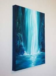 Image result for easy waterfall painting acrylic