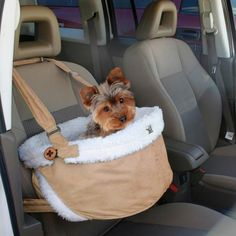 Lookout Dog Booster Seat | Dura-Suede Small Dog Car Booster Lookout Safety Seat