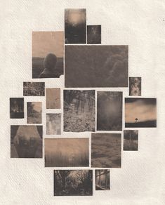sidblack: Coffee soaked inkjet prints on watercolour paper.