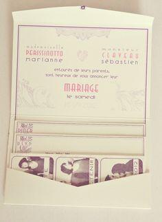 Faire part de mariage Vintage Pop Blanc Personnages Faire part
