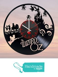 The wizard of OZ movie Handmade Vinyl Record Wall Clock Kids room Fun gift Vintage Unique Home decor Design Retro Interier Art from TO Design Studio https://smile.amazon.com/dp/B01FW0KCDW/ref=hnd_sw_r_pi_dp_42uExb5HP536J #handmadeatamazon