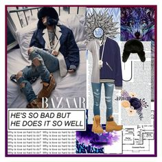 """""""G - Dragon ~ Bazaar"""" by alphyomega ❤ liked on Polyvore featuring Yves Saint Laurent, Adrienne Landau, Pieces, Rebecca Minkoff, Aéropostale, Timberland, bigbang, kpop, GD and yg"""