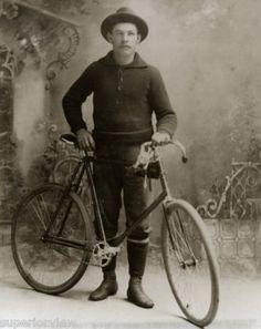 Vintage Bicycle Antique Racing Bike Curved Handle Bars Biking Sweater Old Hat | eBay