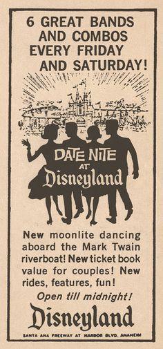 Date Nite at Disneyland Newspaper Ad, 1959