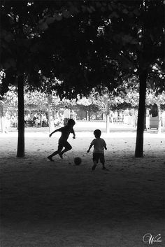 Kids playing football