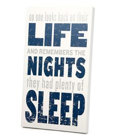 Look at this #zulilyfind! Gray & Navy 'Plenty of Sleep' Wall Art by Twelve Timbers #zulilyfinds