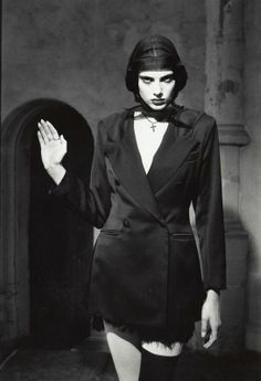 Inez & Vinoodh's first advertising campaigns, photographed in 1986 for the Lawina fashion house.