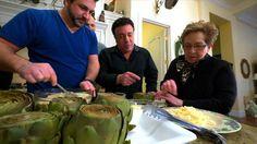 Sicilian Stuffed Artichokes from Joey Fatone's show, My Family Recipe Rocks