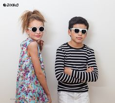 Léa P with Mathis for Zoobug London sunglasses SS16 - photo by Wanda Kujacz