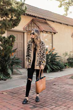 leopard and black outfit | merricksart.com