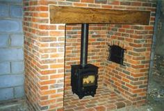 Traditional farmhouse inglenook fireplace