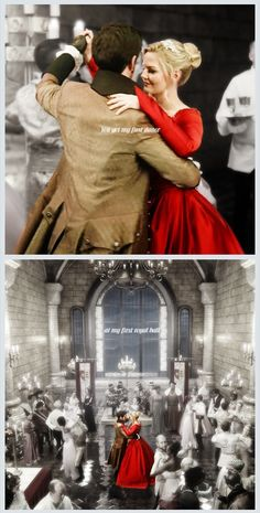 Hook and Swan. I found it weird that she had a red dress when everyone else had plain coloured clothes when she was trying to blend in