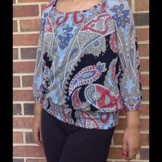 $10 Sale‼️ Multi color blouse by INC. Super cute every day wear top by INC; pairs nicely with jeans for an effortlessly casual and chic look. Worn a few times; no trades please. INC International Concepts Tops Blouses