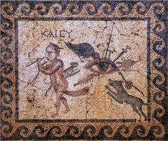 """Antakya kem göz mozaiği.. Üzerinde ev sahibinden bir mesaj var: """"KAI CY"""" """"Hakkımda ne düşünüyorsan aynısı SANA DA olsun"""""""