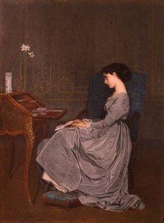 La lettre - Auguste Toulmouche - 1867