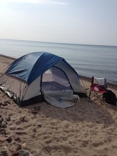 Camping on the beach! #sweetsummertime