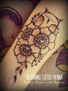 Owl Garden Henna; forearm by Blooming Lotus Henna and Ana Warren Photography, via Flickr
