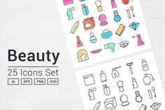 Beauty Icons Set   @creativework247