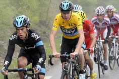 THE picture of first week of the TDF 2013 : a naughty Sky Team completly crushed the race. Whereas he was able to force Contador or Evans to let them go and did all the job,  Porte was able to finish 2nd ...  before exploding next day.
