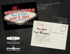 Fabulous Las Vegas Sign  Save the Date Wedding by pixelsNpages, $50.00