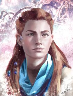 Aloy's portrait by Skyrawathi