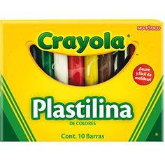 PLASTILINA COLORES SURTIDOS CRAYOLA PAQ/10