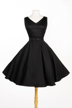 Havana Nights Dress in Black Sateen | Pinup Girl Clothing. Absolutely gorgeous!