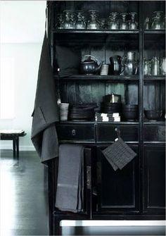 Black cabinet...