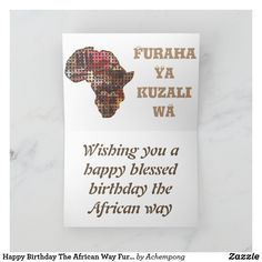 Happy Blessed Birthday, African Map, Guys And Girls, Boy Or Girl, Birthday Woman, Sticker Shop, Plant Design, Custom Greeting Cards, Birthday Greetings