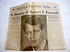 Robert Kennedy Assasination Commemorative by TheSandlapperShop, $25.00