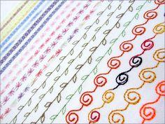 Dekorative sømmer - lag din egen oversikt. Symaskin: Janome Horizon MC 8900.