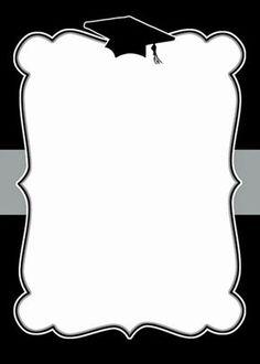 Printable Drawings and Templates: Printable graduation cards 06 - invates Graduation Photos, Graduation Cards, Graduation Invitations, Graduation Templates, Graduation Celebration, Graduation Wallpaper, Borders And Frames, Grad Parties, Invitation Cards