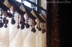 Brown not Boring Dining Room Window Treatments | Beyond the Screen Door