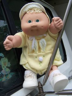 Cabbage Patch Kids Preemie Doll 1982 Blonde Hair & Green Eyes with that sweet little tuft of hair.  by SweetAngelPie, $109.95