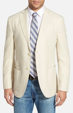 JKT NEW YORK Regular Fit Sand Wash Silk Blazer available at #Nordstrom