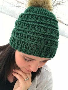 Mountain Ridges Crochet Hat- a free crochet pattern - The Friendly Red Fox, #haken, gratis patroon (Engels), muts, #haakpatroon