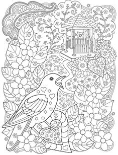Pattern Coloring Pages, Cat Coloring Page, Mandala Coloring Pages, Coloring Pages To Print, Free Coloring Pages, Coloring Books, Mandala Doodle, Mandala Drawing, Bird Design