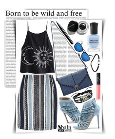 """""""Born to be Wild and Free"""" by gorgeautiful ❤ liked on Polyvore featuring Oris, Bobbi Brown Cosmetics, River Island, Deborah Lippmann, NARS Cosmetics, Marc Jacobs, StreetStyle, Sheinside, summerstyle and CasualChic"""